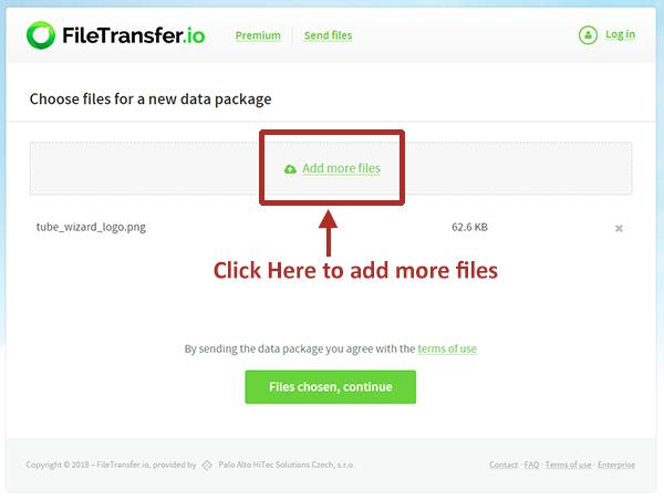 FileTransfer Website - Index Page